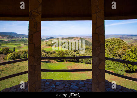 Landscape Azrou Region, Le Moyen Atlas. Morocco, Maghreb North Africa - Stock Photo