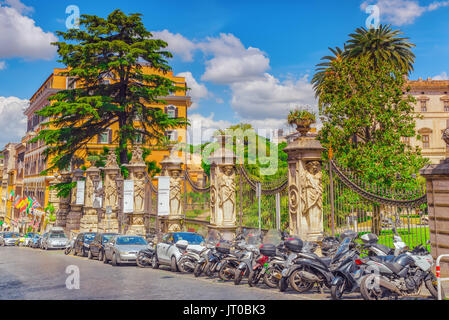Barberini Palace (Palazzo Barberini ) .Palazzo Barberini  is a 17th-century palace in Rome, facing the Piazza Barberini - Stock Photo