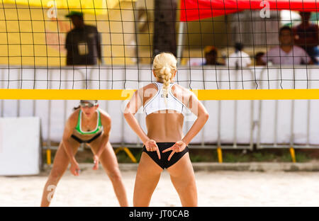Volleyball Player Is A Female Beach Volleyball Beach