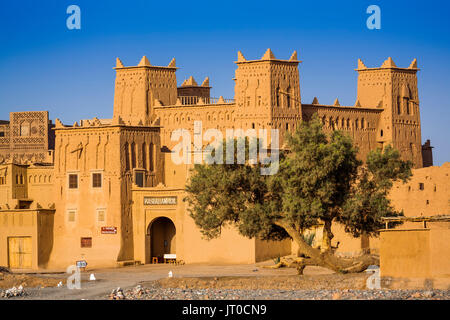 Hotel Kasbah Amridil, Dades Valley, Skoura. Morocco, Maghreb North Africa - Stock Photo