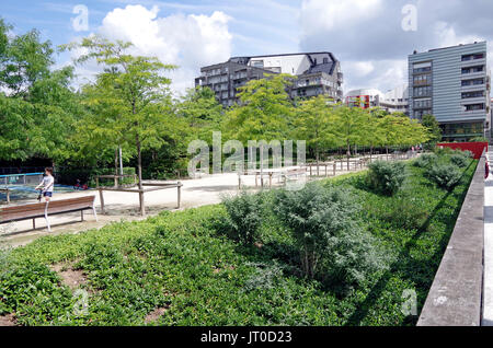 Part of the Park, Parc Clichy-Batignolles, Parc Martin-Luther-King, and residential developments on former railway lands in the 17th arrondissement, o