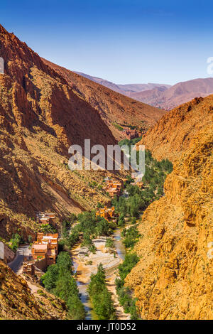 Dades Valley, Dades Gorges, High Atlas. Morocco, Maghreb North Africa - Stock Photo