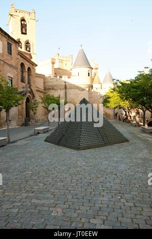 Castle of Olite - Spain - Stock Photo