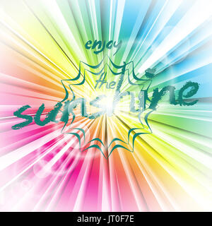 Abstract vector shiny background with sun flare. EPS 10 illustration. - Stock Photo