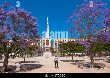 Plaza de la Merced in spring Málaga, Costa del Sol. Andalusia, Southern Spain Europe - Stock Photo