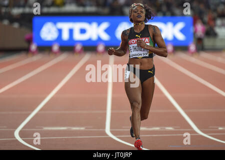 London, UK. 6th Aug, 2017. Elaine THOMPSON, Jamaica, during 100 meter finale in London on August 6, 2017 at the - Stock Photo