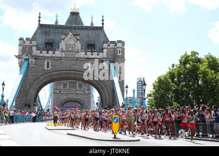 London, UK. 6th Aug, 2017. General view Athletics : IAAF World Championships London 2017 Women's Marathon in London, - Stock Photo