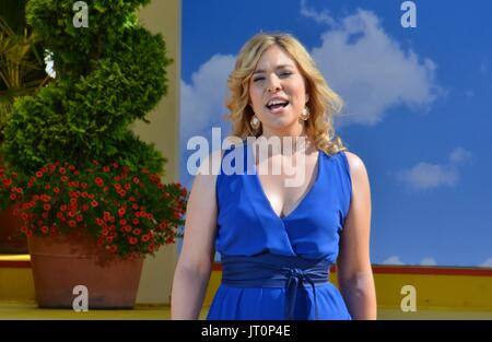Rust, German , 06th August, 2017, Das Erste ARD TV Show 'Immer wieder Sonntags' Featuring: Laura Wilde Credit: mediensegel/Alamy - Stock Photo
