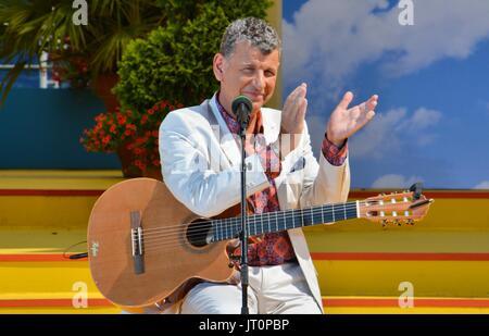 Rust, German , 06th August, 2017, Das Erste ARD TV Show 'Immer wieder Sonntags' Featuring: Semino Rossi Credit: - Stock Photo