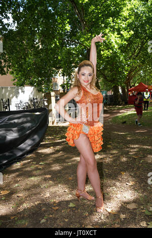 London, UK. 6th Aug, 2017. Thousands attend Plaza Latina Festival. A Latin summer festival party with live music, - Stock Photo
