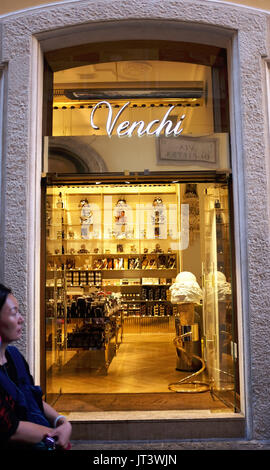 1f866e47a319 Rome Italy July 2017 - Famous Venchi Chocolate and Gelato restuarants in  the city - Stock