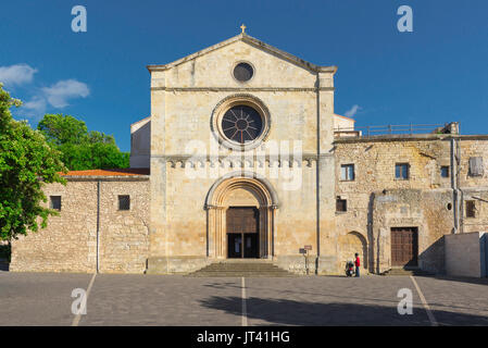 Sassari Sardinia church, the Romanesque west front of the Santa Maria di Betlem church in Sassari, Sardinia. - Stock Photo