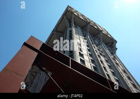 Torre Velasca (Velasca Tower), Piazza Velasca, Milan, Lombardy, Italy, July 2017 - Stock Photo