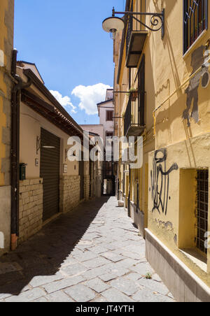 POTENZA, ITALY - The capital of Basilicata region, southern Italy, city rebuilt after the devastating earthquake - Stock Photo