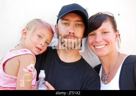 Tim McIlrath Rise Against daughter wife portrait 2007 Lollapalooza Chicago,Il - Stock Photo