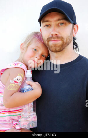 Tim McIlrath Rise Against daughter portrait 2007 Lollapalooza Chicago,Il - Stock Photo