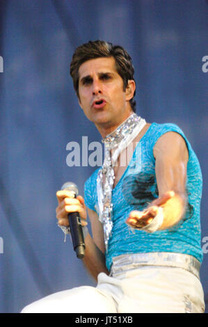Perry Farrell Satellite Party performs 2007 Lollapalooza Chicago,Il - Stock Photo