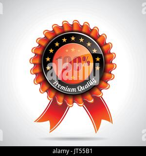 Vector  Premium Quality Labels Illustration with shiny styled design on a clear background. EPS 10. - Stock Photo