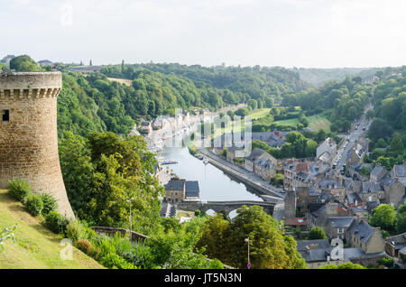 The port of dinan in brittany france stock photo royalty for Restaurant jardin anglais