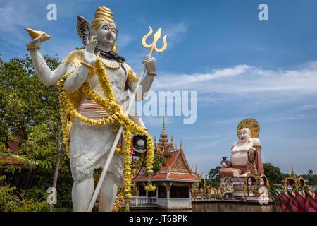 Wat Plai Laem Temple, Suwannaram Ban Bo Phut, Koh Samui island, Thailand - Stock Photo