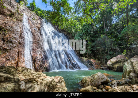 Na Muang or Namuang Waterfall Park, Koh Samui island, Thailand - Stock Photo