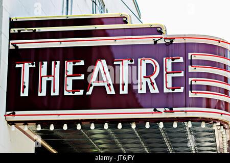 Vintage Theatre Sign - Stock Photo