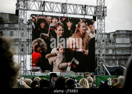 Ken Livingstone MP attends the 4th Annual Russian Winter Festival in Trafalgar Square, London, UK. - Stock Photo
