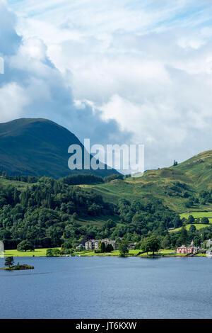Lake Ullswater in the Lake District National Park, Cumbria, UK - Stock Photo