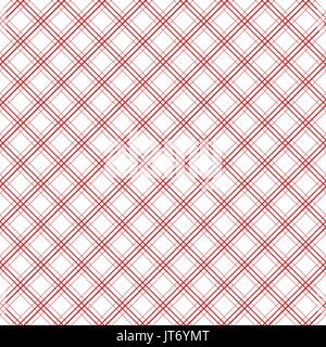 Geometric plaid diagonal line vintage seamless vector pattern. - Stock Photo