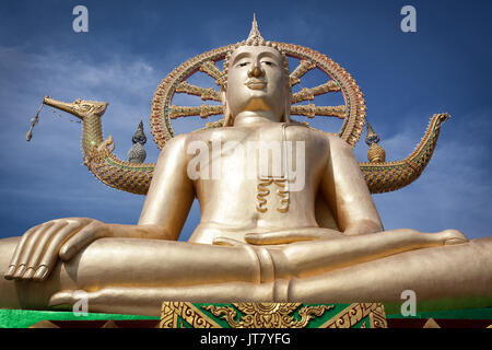Big Buddha temple or Wat Phra Yai in Kho Samui island, Thailand - Stock Photo