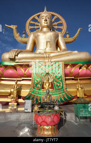 Big Buddha temple or Wat Phra Yai in Kho Samui island, Thailand - Stock Photo