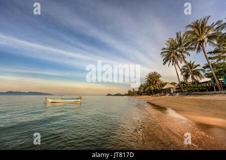 Bang Po Beach sunset in Koh Samui island, Thailand - Stock Photo