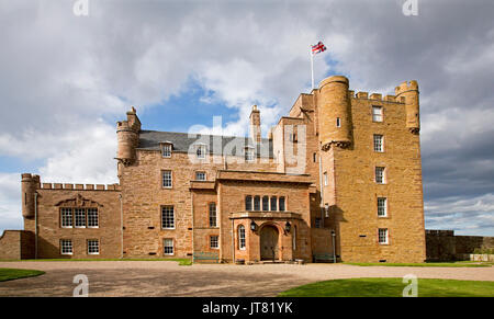Castle of Mey, a country residence of the British royal family, at Thurso, Caithness, Scotland - Stock Photo