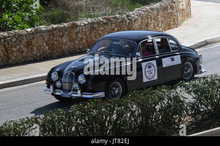 Classic cars on-display & racing at the 2012 Malta Grand Prix. - Stock Photo