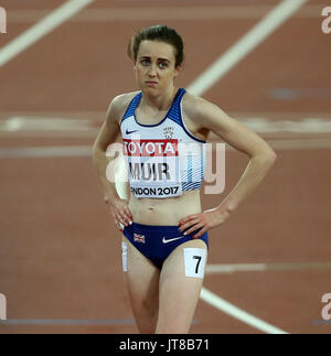 London, UK. 7th August, 2017. A Dejected Laura Muir 1500 Metres Final World Athletics Championships 2017 London - Stock Photo
