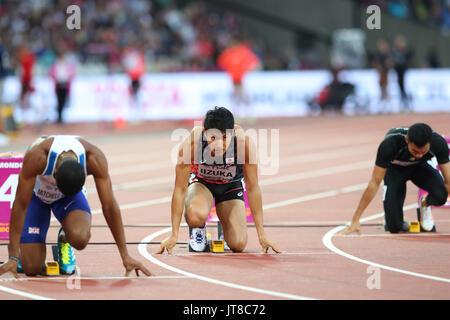 London, UK. 7th Aug, 2017. Shota Iizuka (JPN) Athletics : IAAF World Championships London 2017 Men's 200m Heat at - Stock Photo
