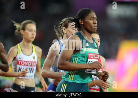 London, UK. 07-Aug-17. Caster SEMENYA of South Africa competing in the 2017 IAAF World Championships, Queen Elizabeth - Stock Photo