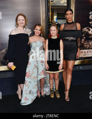 Los Angeles, California, USA. 07th Aug, 2017. Miranda Otto, Talitha Bateman, Lulu Wilson, Stephanie Sigman 081  - Stock Photo