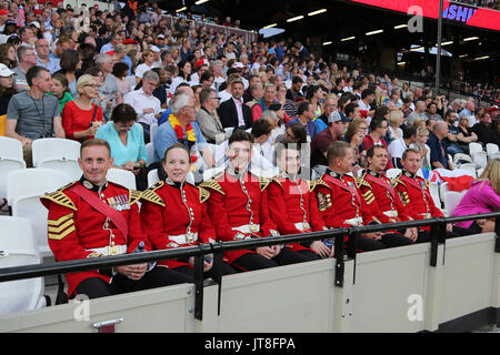 London, UK. 07-Aug-17.  IAAF World Championships, Queen Elizabeth Olympic Park, Stratford, London, UK. Credit: Simon - Stock Photo