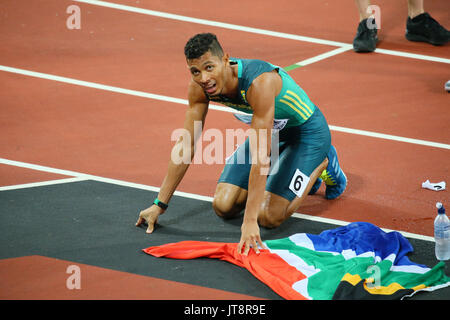 London, UK. 8th Aug, 2017. Wayde Van Niekerk (RSA) Athletics : IAAF World Championships London 2017 Men's 400m Final - Stock Photo