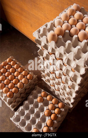 Fresh eggs selling at traditional shop in malaysia - Stock Photo