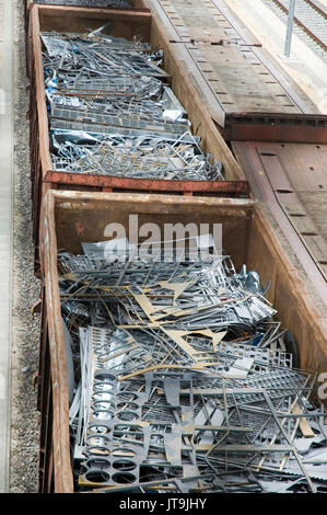 metal waste in containers - Stock Photo