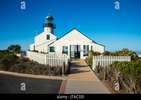 Old Point Loma lighthouse on the Cabrillo National Monument, Point Loma, San Diego, California, USA, North America - Stock Photo