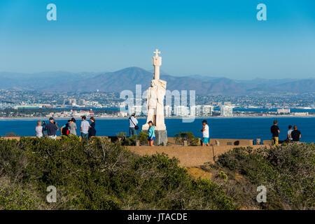 Cabrillo Statue, Cabrillo National Monument, Point Loma, San Diego, California, United States of America, North - Stock Photo