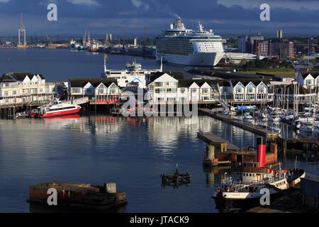 Town Quay, Port of Southampton, Hampshire, England, United Kingdom, Europe - Stock Photo