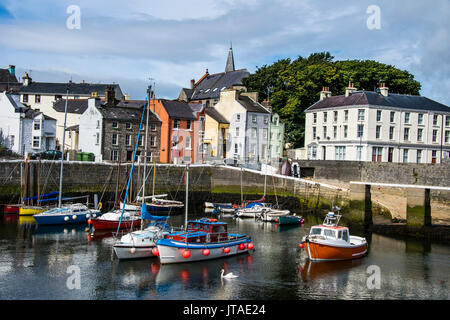 Harbour of Castletown, Isle of Man, crown dependency of the United Kingdom, Europe - Stock Photo