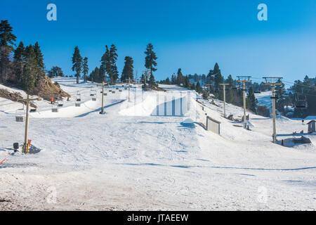 Ski resort of Big Bear in spring, San Bernadino Mountains, California, United States of America, North America - Stock Photo