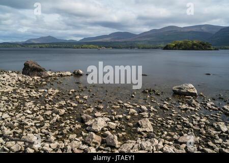 Lough Leane, Killarney National Park, County Kerry, Munster, Republic of Ireland, Europe - Stock Photo