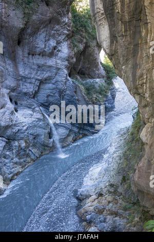 Swallow Grotto, Taroko Gorge, Taiwan, Asia - Stock Photo
