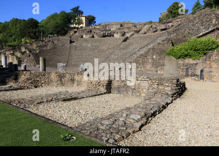 Ancient Theatre of Fourviere, Lyon, Rhone Valley, France, Europe - Stock Photo